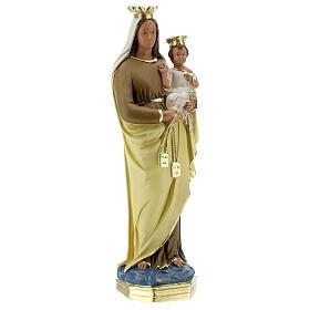 Madonna del Carmine 40 cm statua gesso dipinta a mano Barsanti s5