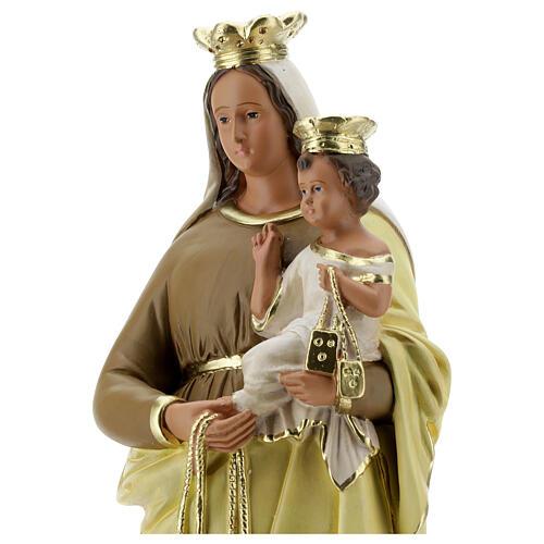 Madonna del Carmine 40 cm statua gesso dipinta a mano Barsanti 2
