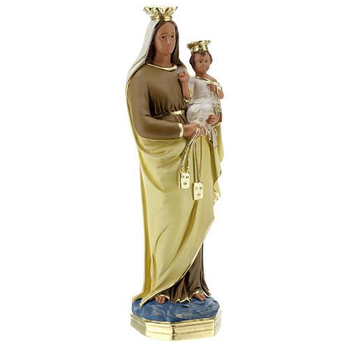Madonna del Carmine 40 cm statua gesso dipinta a mano Barsanti 5