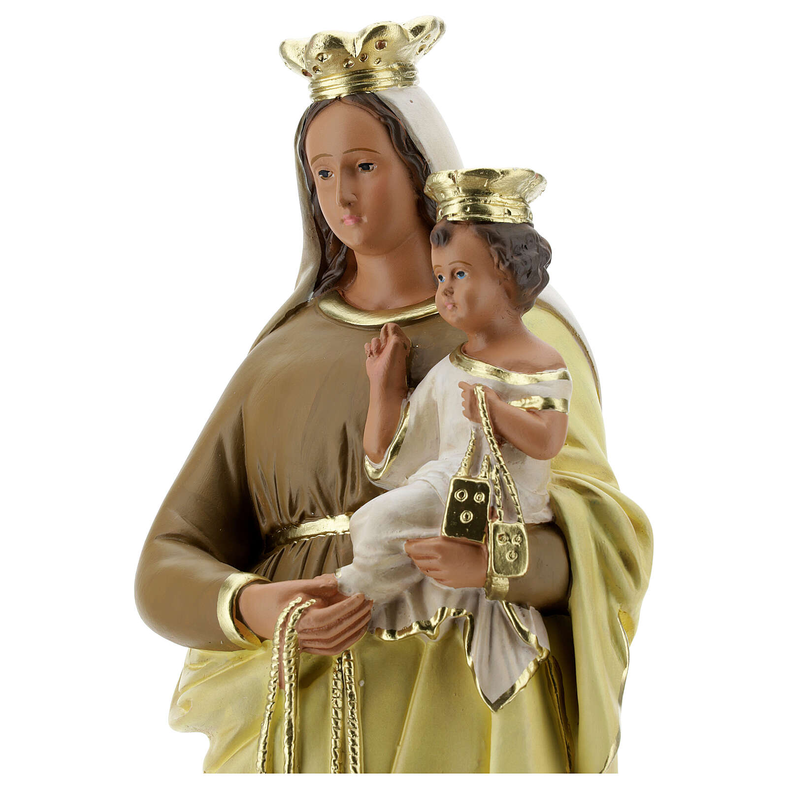 Lady of Mount Carmel statue, 40 cm hand painted plaster Barsanti 4