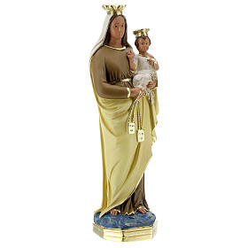 Lady of Mount Carmel statue, 40 cm hand painted plaster Barsanti s5