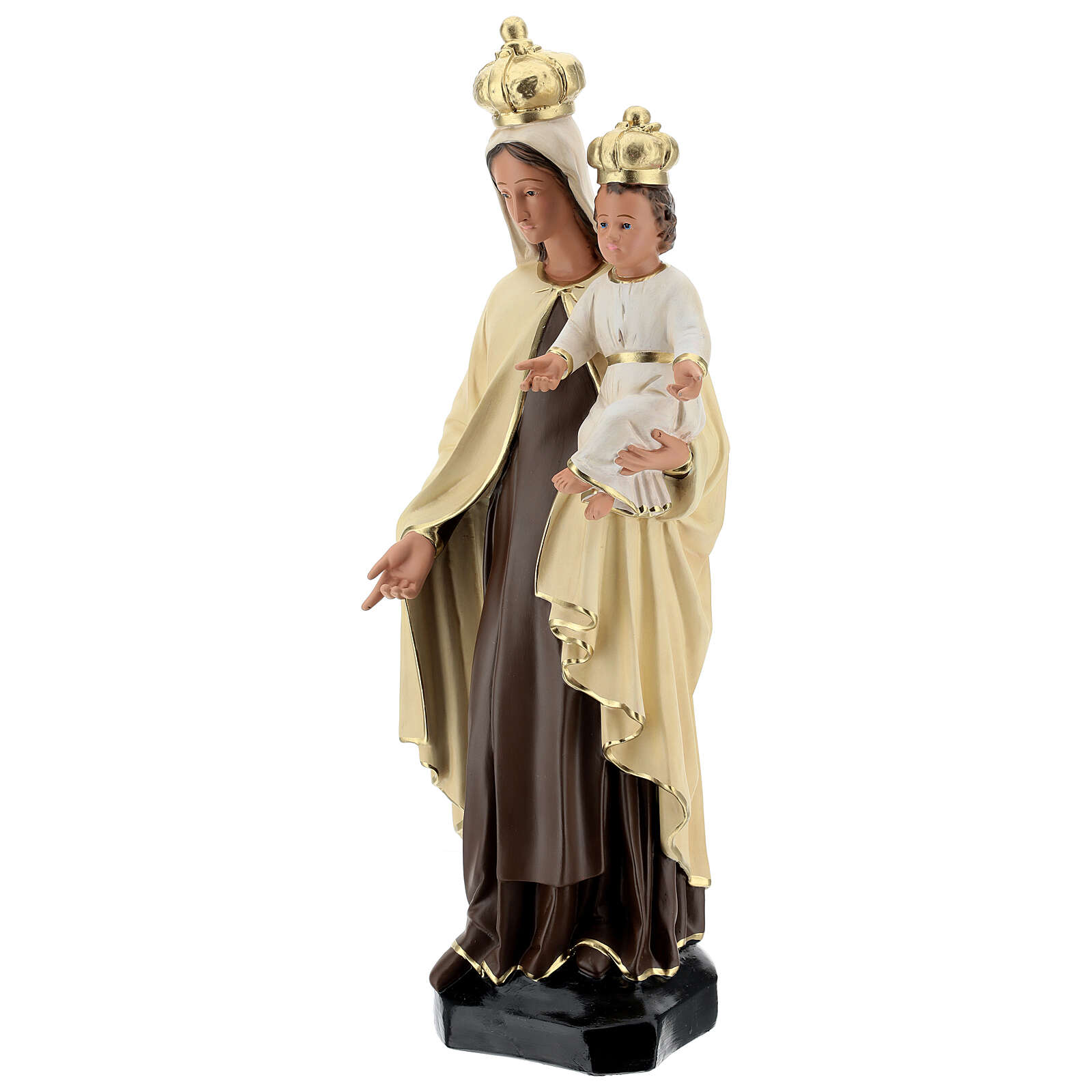 Our Lady of Mount Carmel resin statue 60 cm hand painted Arte Barsanti 4