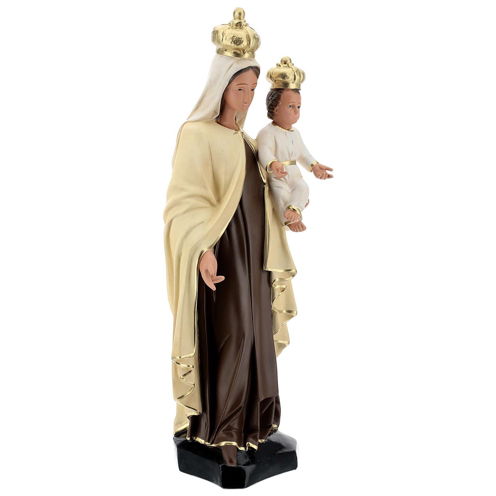 Statue Notre-Dame du Mont-Carmel résine 60 cm peinte main Arte Barsanti 4