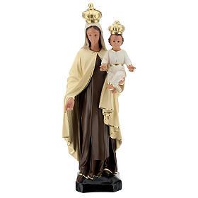 Statue Notre-Dame du Mont-Carmel résine 60 cm peinte main Arte Barsanti s1