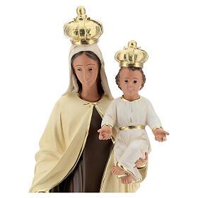 Statue Notre-Dame du Mont-Carmel résine 60 cm peinte main Arte Barsanti s4