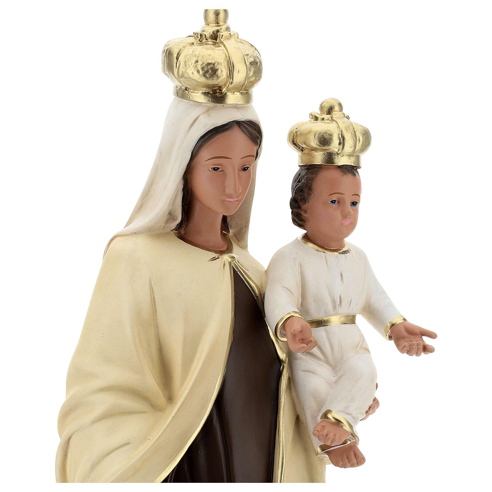 Statua Madonna del Carmine resina 60 cm dipinta mano Arte Barsanti 4