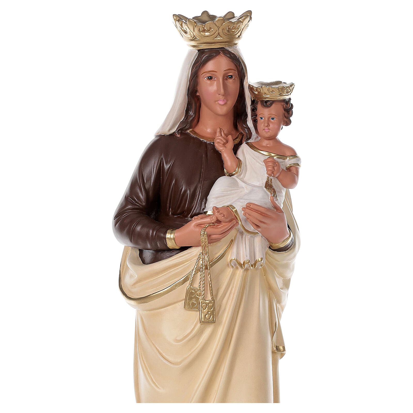 Our Lady of Mount Carmel statue 32 in hand-painted redin Arte Barsanti 4