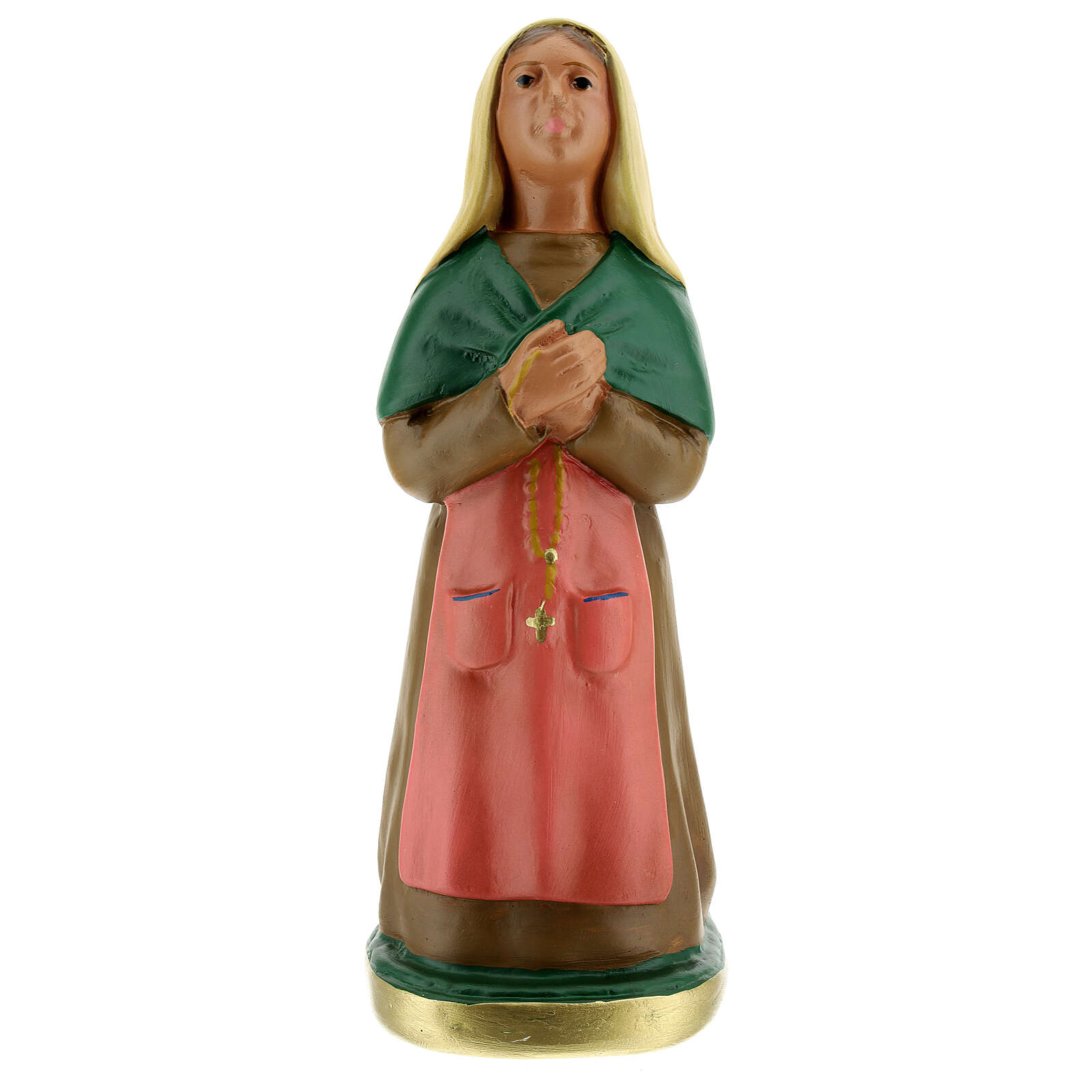 Saint Bernadette 12 in plaster statue Arte Barsanti 4