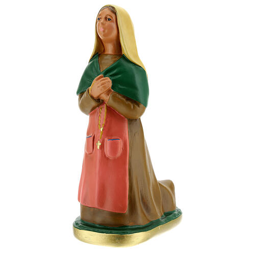 Saint Bernadette 12 in plaster statue Arte Barsanti 2