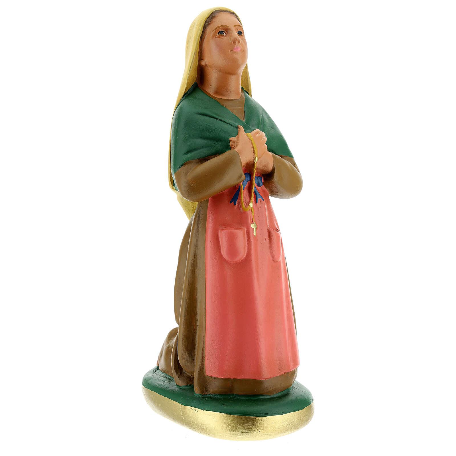 St. Bernadette hand painted plaster statue Arte Barsanti 40 cm 4