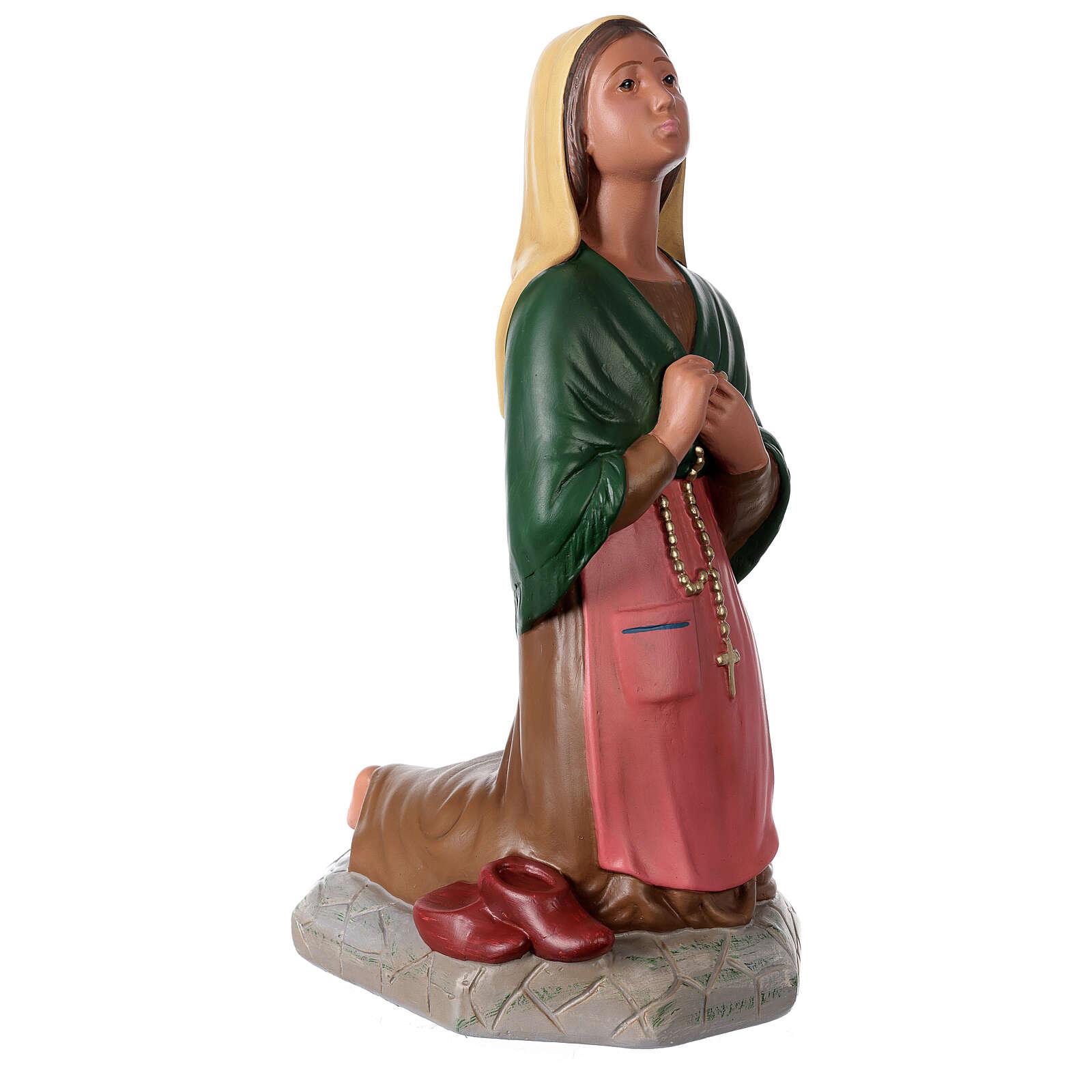 St. Bernadette hand painted plaster statue Arte Barsanti 60 cm 4