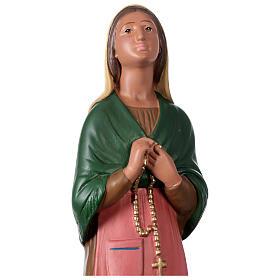 St. Bernadette hand painted plaster statue Arte Barsanti 60 cm s2