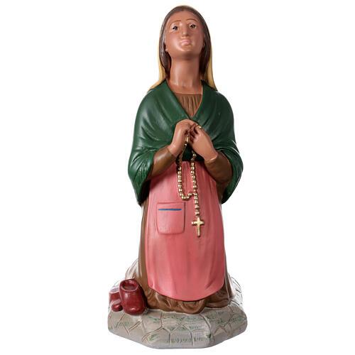 St. Bernadette hand painted plaster statue Arte Barsanti 60 cm 1