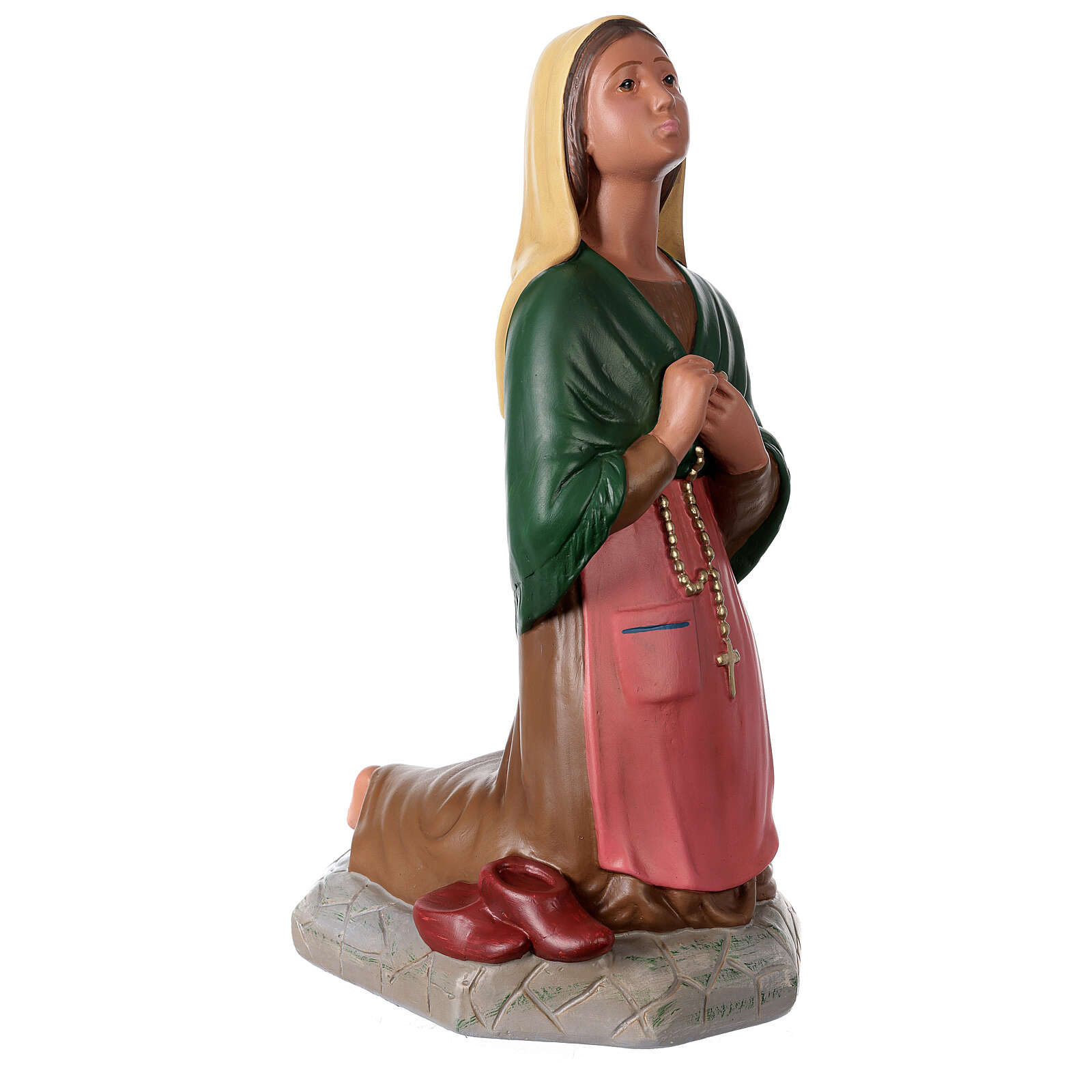 Santa Bernadette 60 cm estatua yeso pintada a mano Arte Barsanti 4