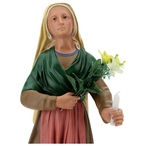 Estatua Santa Bernadette 80 cm yeso pintado a mano Arte Barsanti