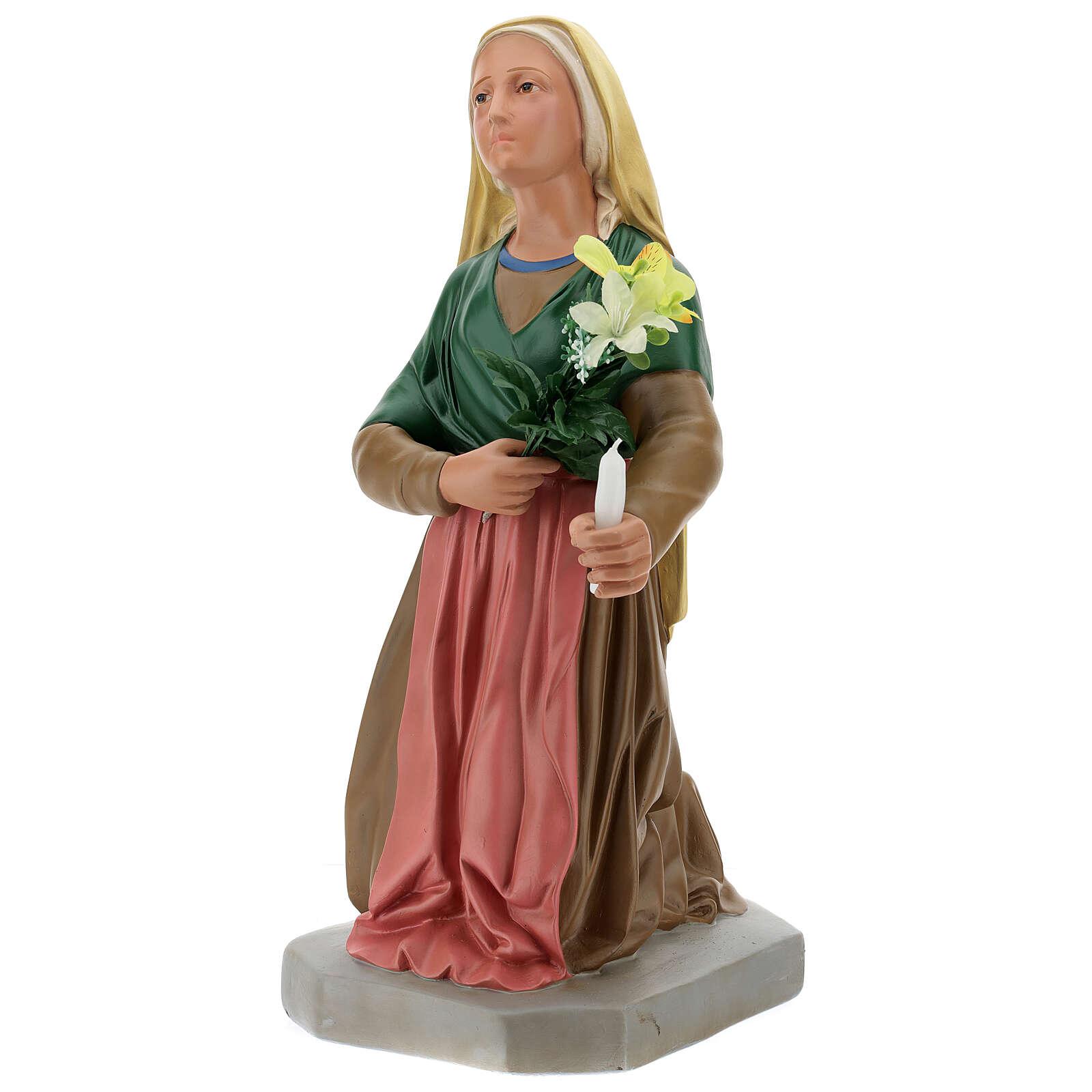 Statua Santa Bernadette 80 cm gesso dipinto a mano Arte Barsanti 4