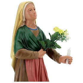 Statua Santa Bernadette 80 cm gesso dipinto a mano Arte Barsanti s4