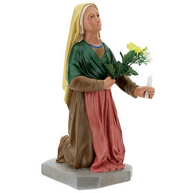 Statua Santa Bernadette 80 cm gesso dipinto a mano Arte Barsanti s5