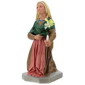 Hand-painted plaster statue of Saint Bernadette 32 in Arte Barsanti s3