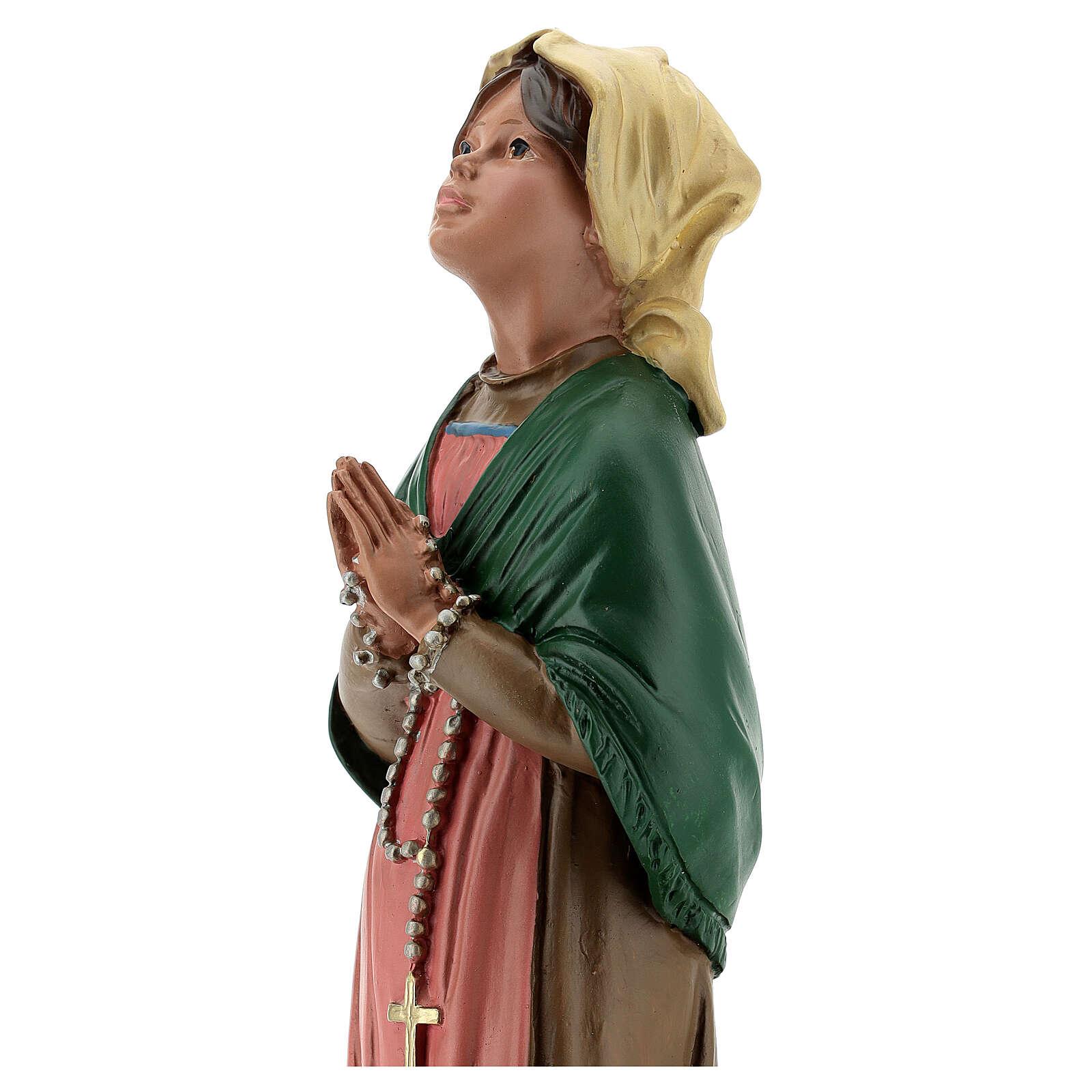 Santa Bernadette estatua resina 20 cm Arte Barsanti 4