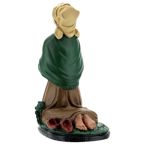 Santa Bernadette estatua resina 20 cm Arte Barsanti 5