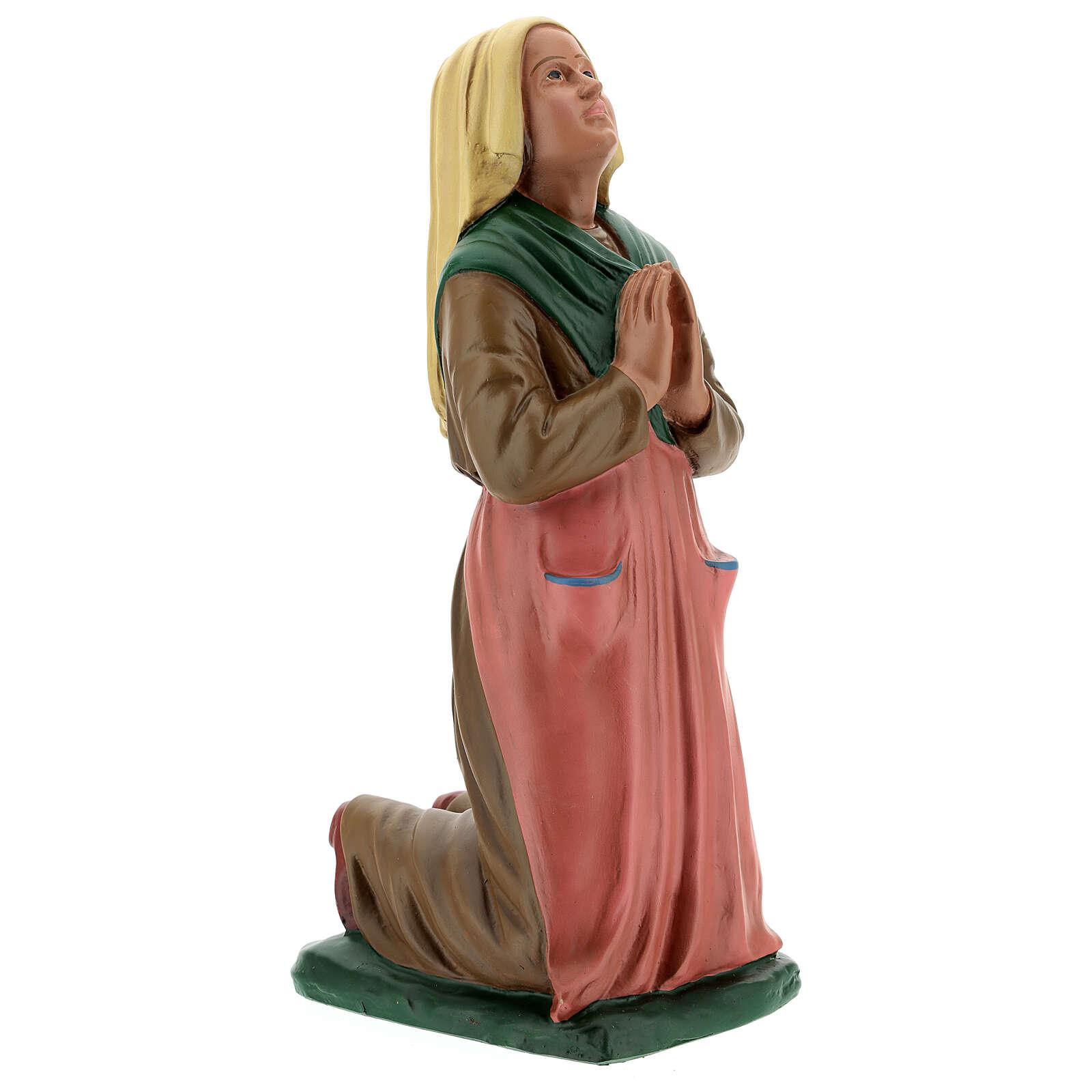 Statue Sainte Bernadette résine 30 cm peinte main Arte Barsanti 4