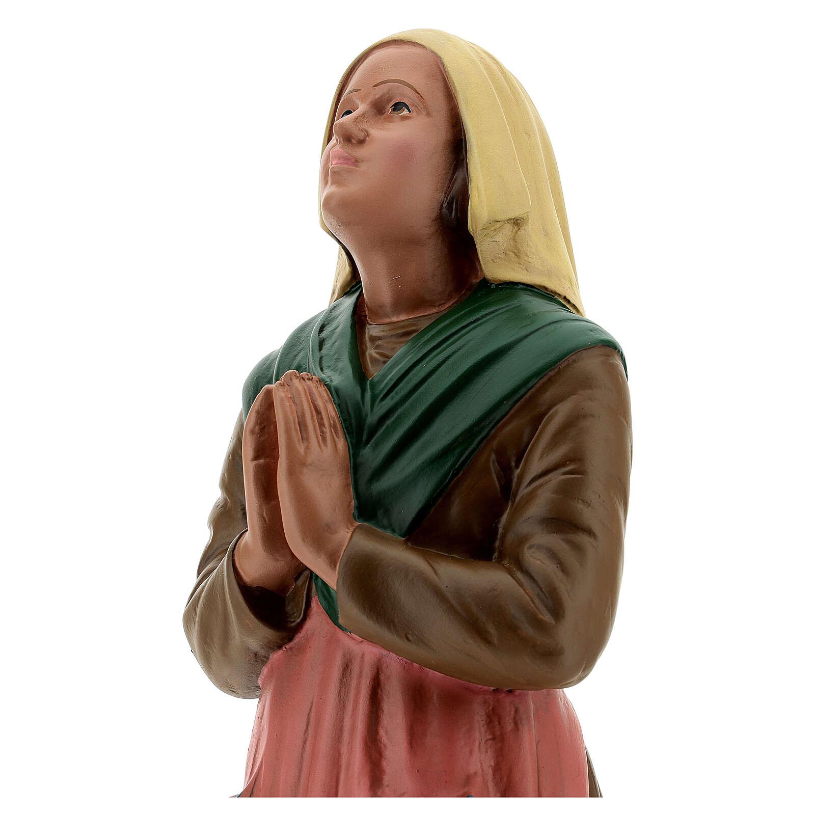 St Bernadette statue, 30 cm hand painted resin Arte Barsanti 4