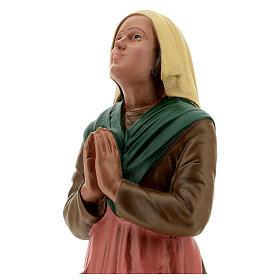 St Bernadette statue, 30 cm hand painted resin Arte Barsanti s2