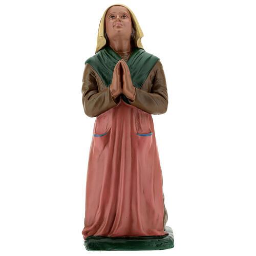 St Bernadette statue, 30 cm hand painted resin Arte Barsanti 1