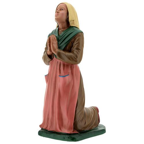 St Bernadette statue, 30 cm hand painted resin Arte Barsanti 3