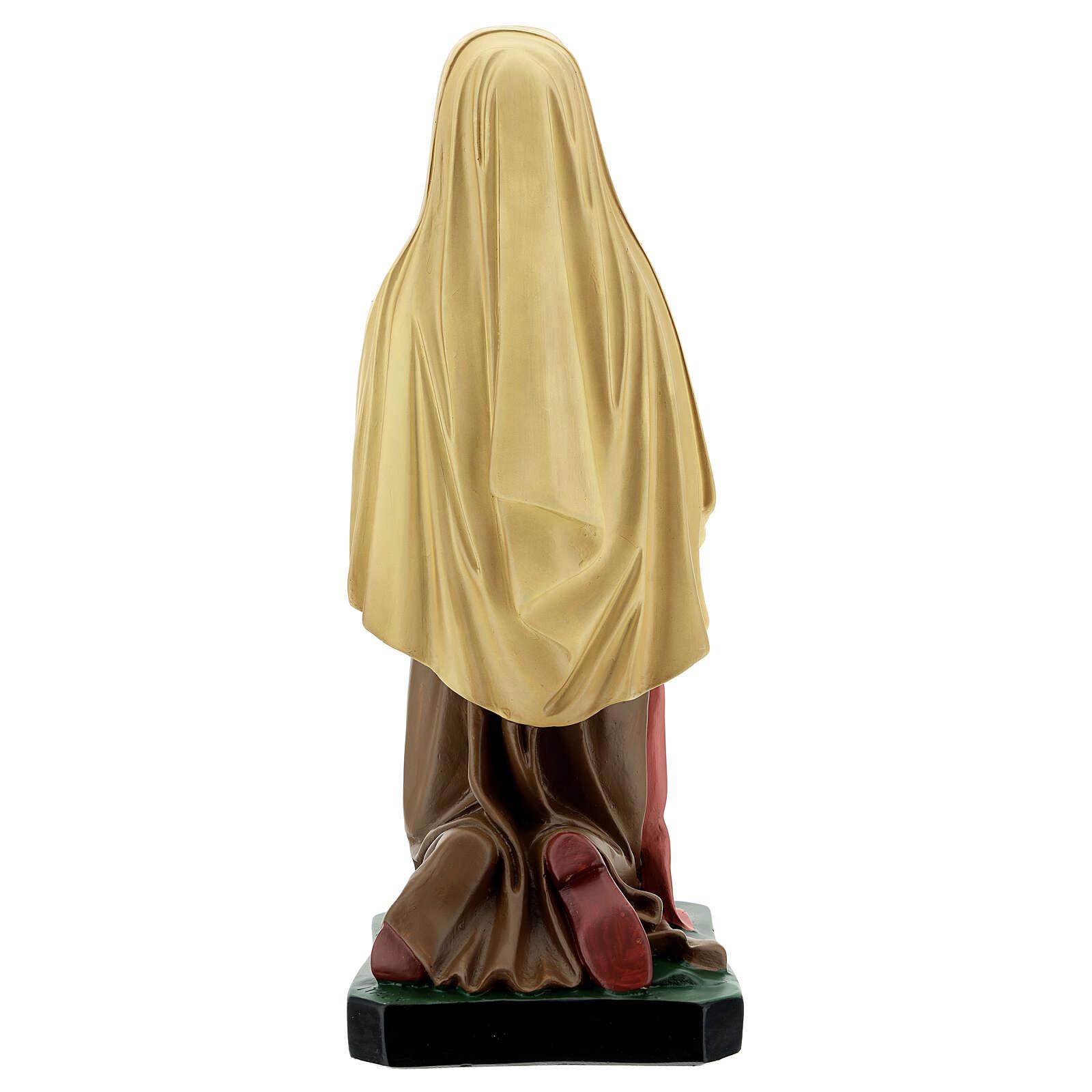 St. Bernadette resin statue 40 cm hand painted Arte Barsanti  4