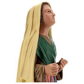 Santa Bernadette dipinta a mano statua resina 40 cm Arte Barsanti s2