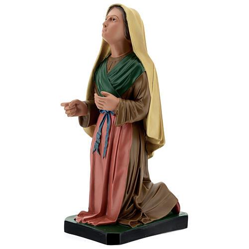 Santa Bernadette dipinta a mano statua resina 40 cm Arte Barsanti 3