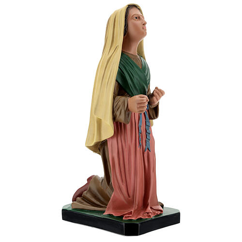 Santa Bernadette dipinta a mano statua resina 40 cm Arte Barsanti 4