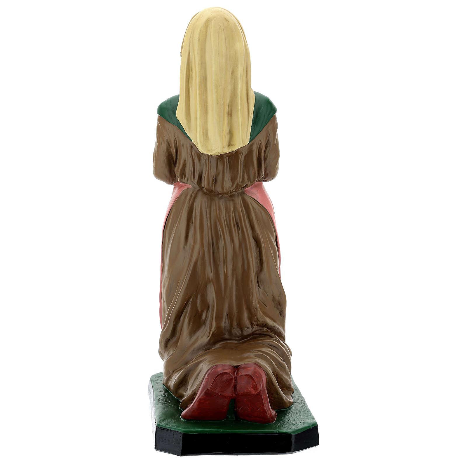 Sainte Bernadette résine peinte à la main statue 60 cm Arte Barsanti 4