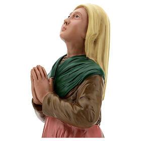 Santa Bernadette Soubirous imagem resina pintada à mão 60 cm Arte Barsanti