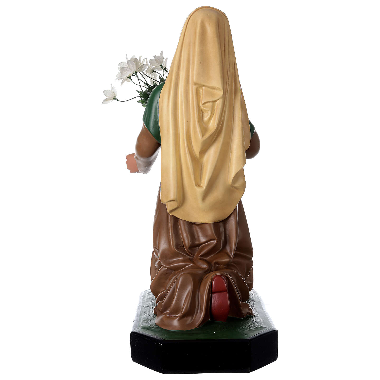 Estatua resina Santa Bernadette 80 cm pintada a mano Arte Barsanti 4