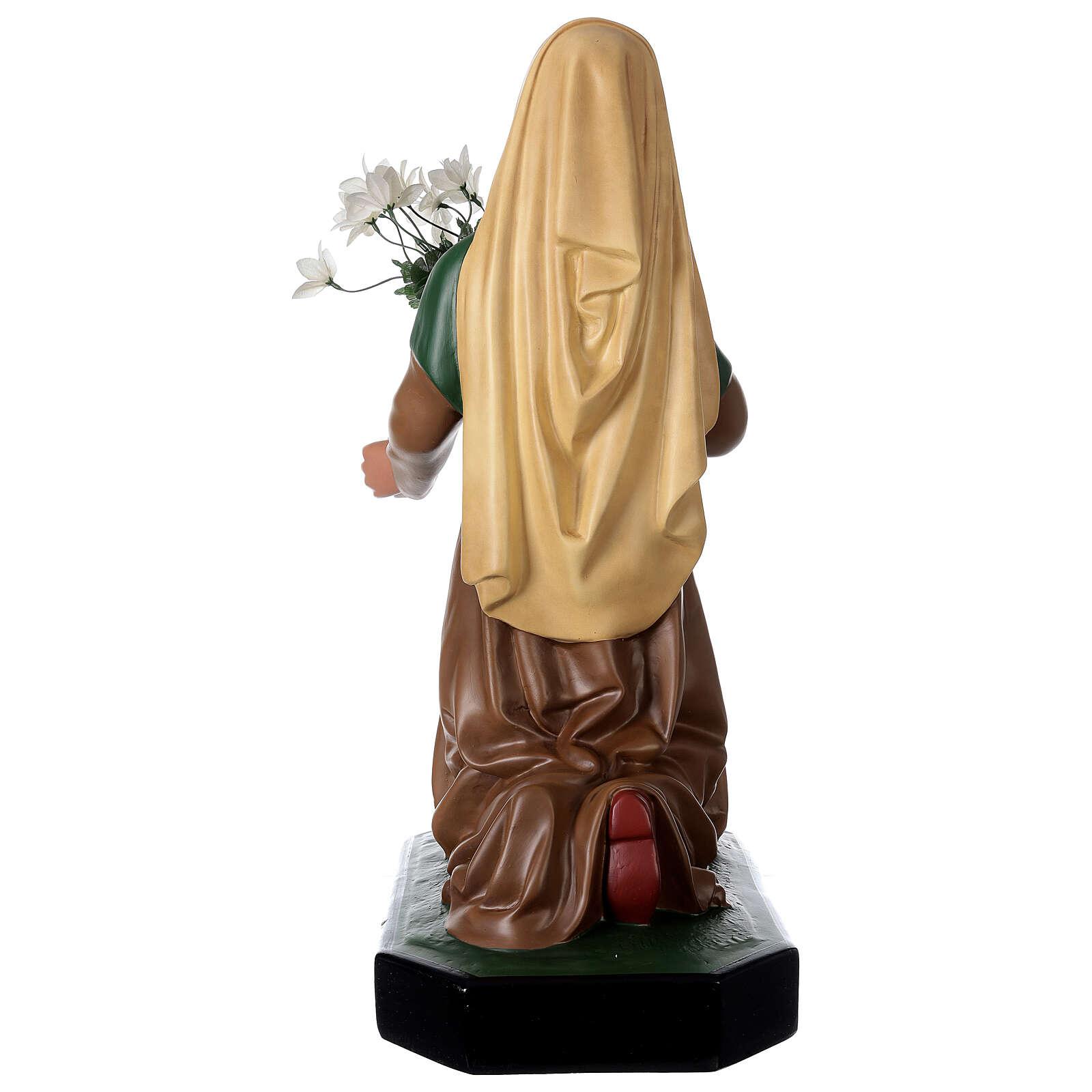 Statue résine Sainte Bernadette 80 cm peinte main Arte Barsanti 4
