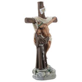 Apparition à Saint François d'Assise statue plâtre 20 cm Barsanti s4