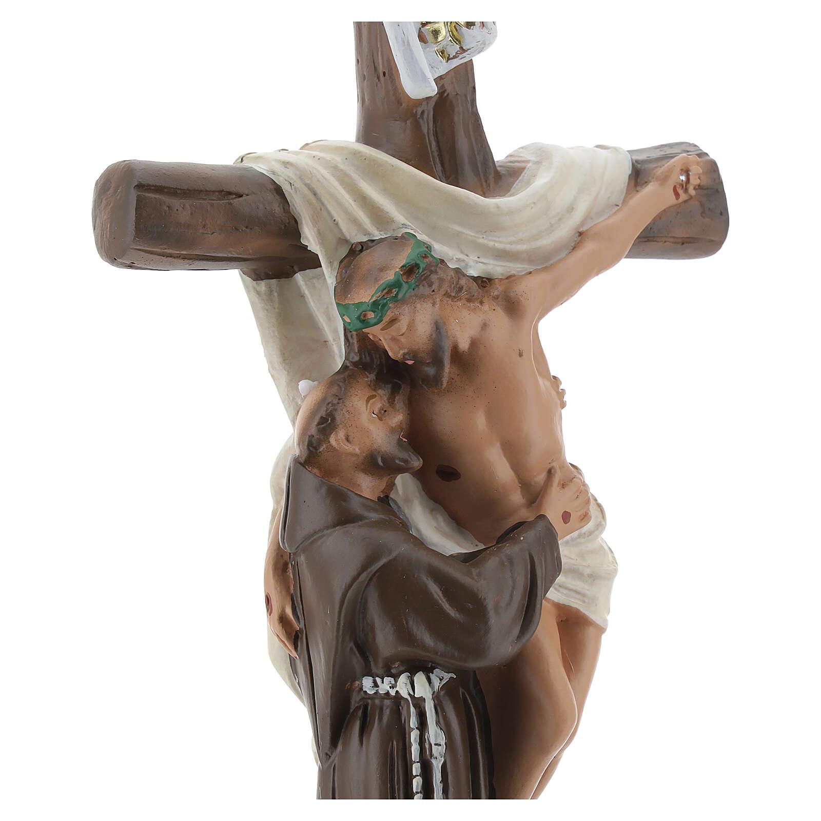 Apparizione a San Francesco d'Assisi statua gesso 20 cm Barsanti 4
