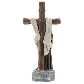 Apparizione a San Francesco d'Assisi statua gesso 20 cm Barsanti s5