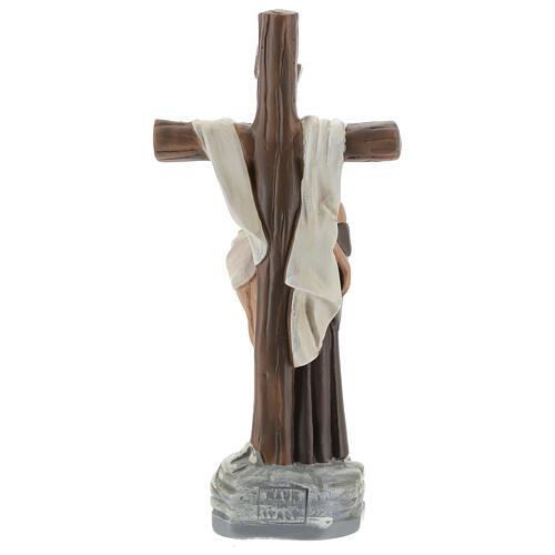 Apparizione a San Francesco d'Assisi statua gesso 20 cm Barsanti 5