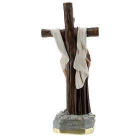 Estatua Aparición a San Francisco de Asís 30 cm yeso Barsanti  s7