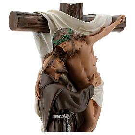 Statua Apparizione a San Francesco d'Assisi 30 cm gesso Barsanti s2