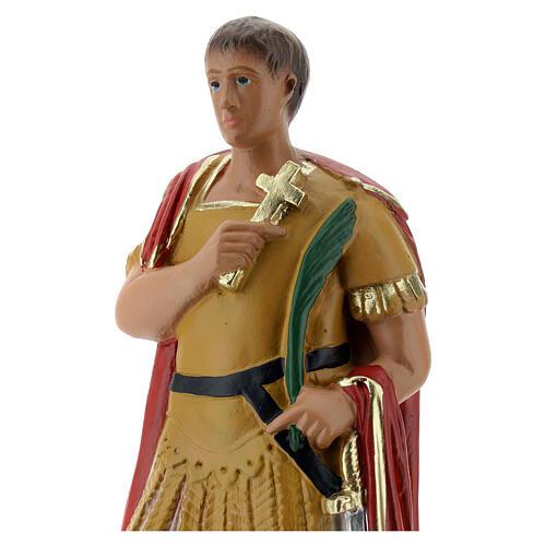 St. Expeditus plaster statue 20 cm hand painted Arte Barsanti 2