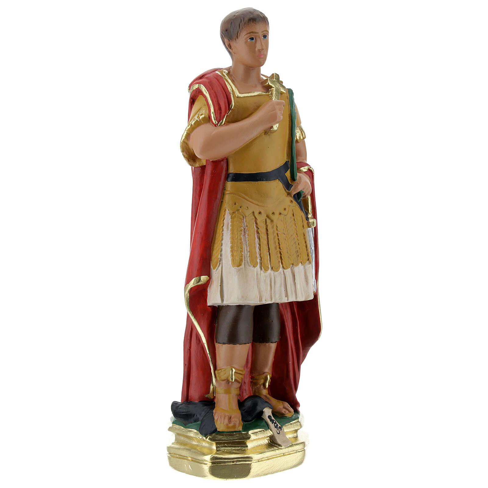Saint Expédit statuette plâtre 20 cm peinte main Barsanti 4