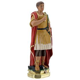Saint Expédit statuette plâtre 20 cm peinte main Barsanti s4