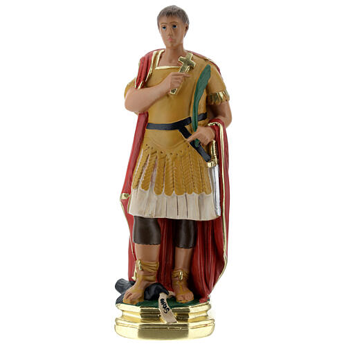 Saint Expédit statuette plâtre 20 cm peinte main Barsanti 1