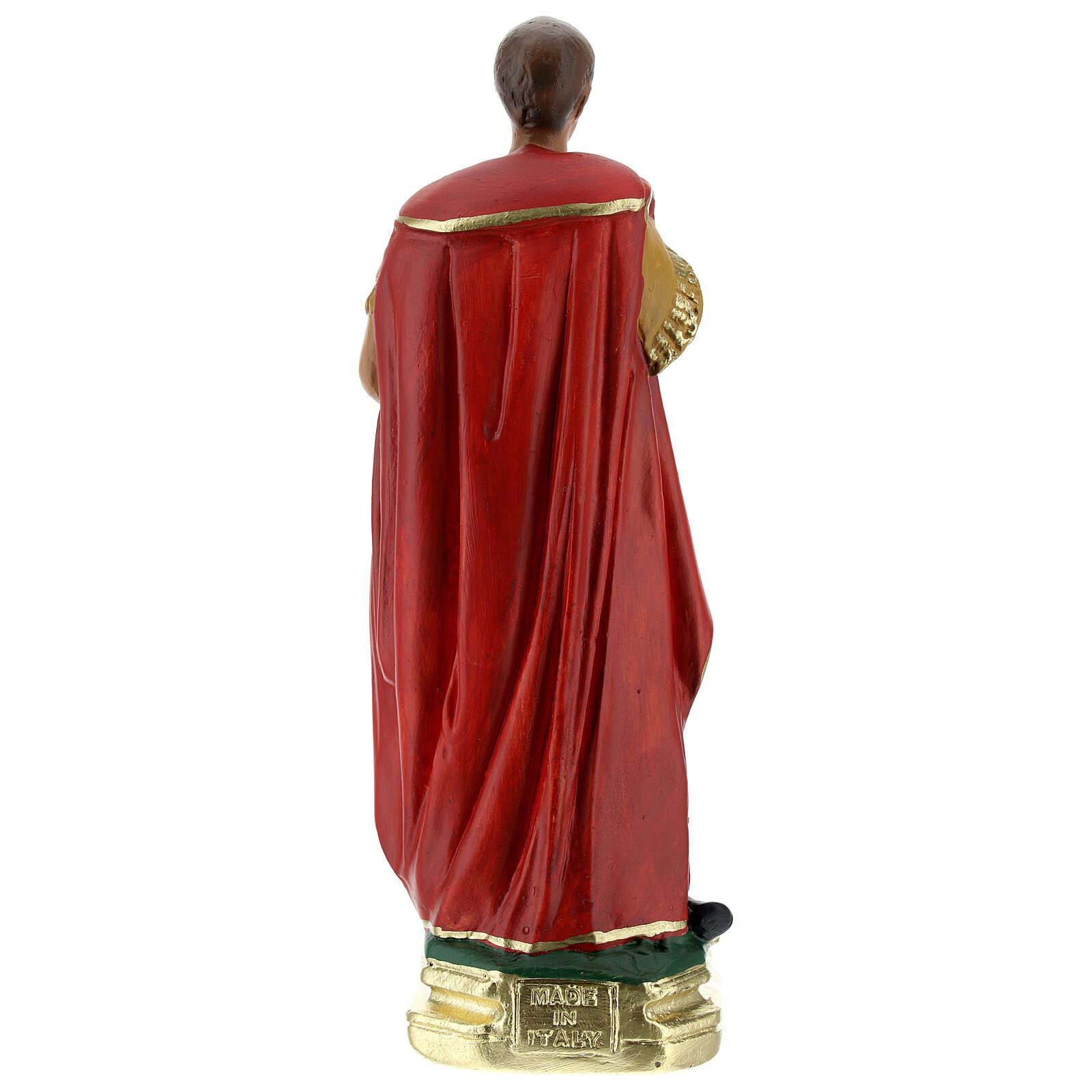 Saint Expedite statue, 20 cm hand painted plaster Barsanti 4