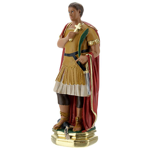 Saint Expedite statue, 20 cm hand painted plaster Barsanti 3